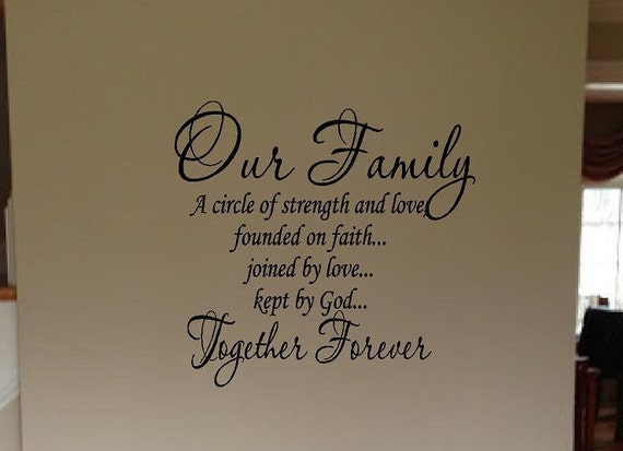 Our Family A Circle Of Strength And Love Kept By God Faith Etsy