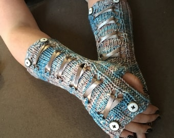Corsetted Fingerless Mitts