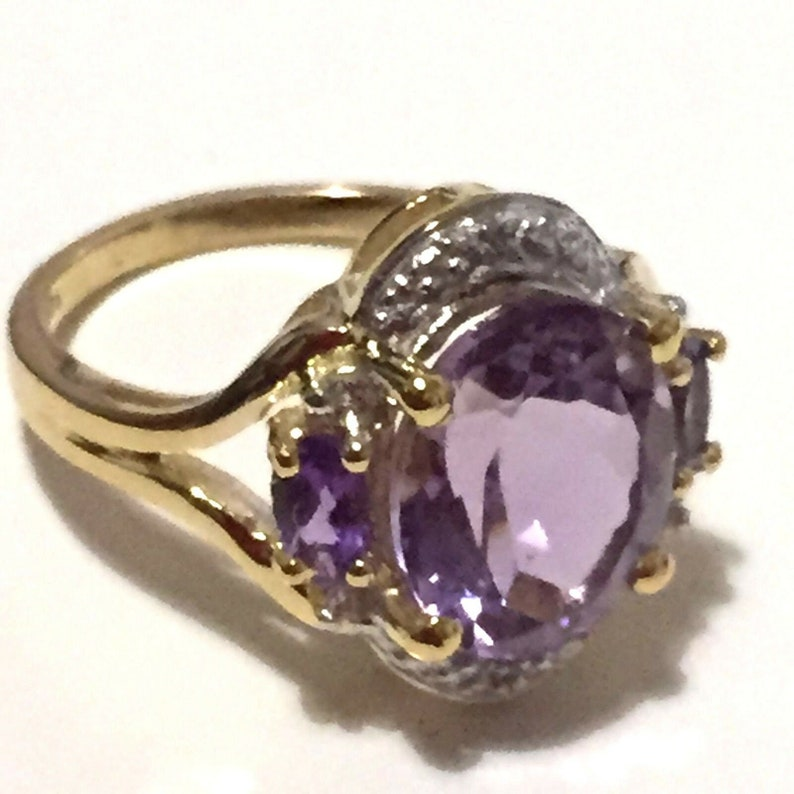 Gift For Her Traditional Girls/' Ring Cubic Zirconia 925 Sterling Silver Ring Size 8 Exclusive Jewelry Collection Oval Shape Amethyst