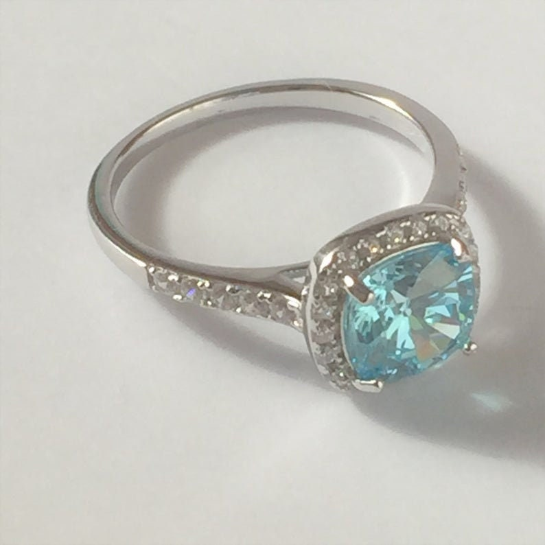 Details about  /14K White Gold Over 1.50Ct Cushion Cut Diamond Women/'s Engagement /& Wedding Ring