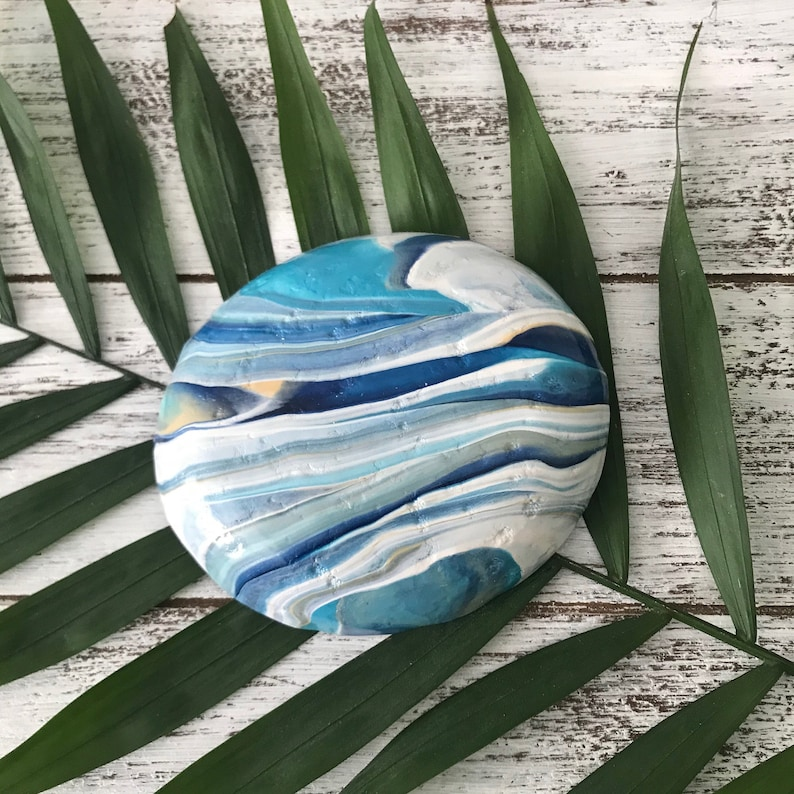 Nautical Jewelry Holder COASTAL Oval Ring Dish 4 Oval Coastal Bowl Beach Lover Gift for a friend Available in 5 color combos