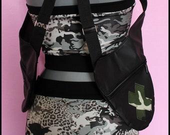 f38680d7b Holster Bag Camouflage / Marsupio militare ecopelle / Pistoleras / Festival  Holster / zebrato / Burning man / rave goa / tekno / rave