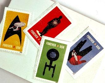 4 Unused Postage Stamps // Star Trek // Forever