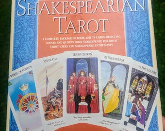 The Shakespearian Tarot-Box with Book and Cards in Shrinkwrap-New/Old Stock RARE 1997 Edition D. Ashcroft-Nowicki Author