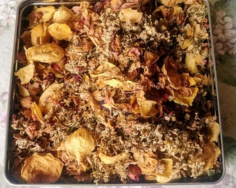 Potpourri Mixed Dried Flowers, Leaves 1 CUP Air Dried Natural Real SCENTED Room Weddings Craft Soap Sachet