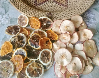 Dried Apple and/or Orange Slices / Wheels - Dehydrated- for Decoration, Weddings, Decor, Christmas Tree