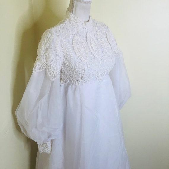 60s 70s Emma Domb Wedding Dress Empire Waist Bisho