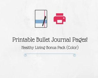 Bullet Journal Healthy Living Bonus Pack (Color)