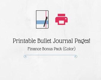Bullet Journal Printable Finance Bonus Pack (Color)