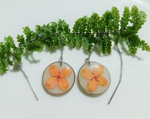 Floral Threader Earrings