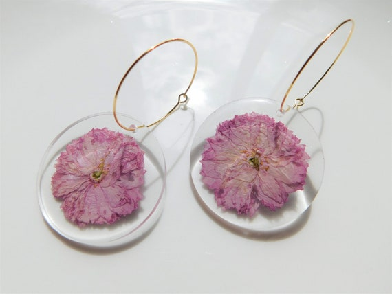 Floral Gold Hoops