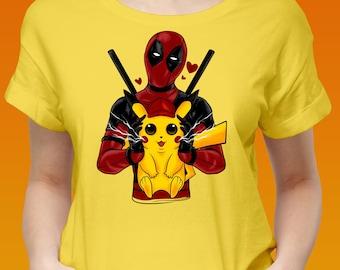 563acb77 pikachu deadpool in love - pikachu clothing - deadpool birthday Gift  Detective, Pikachu Pokeman Meme