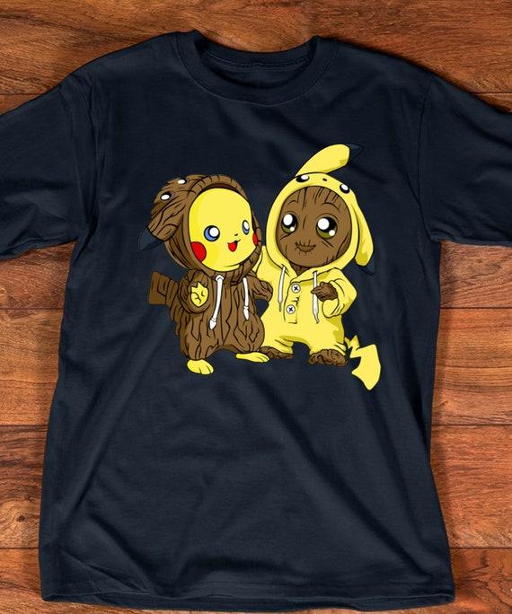 Pikachu pokemon and groot i'am groot T shirt Hoodie Kids Hoodie