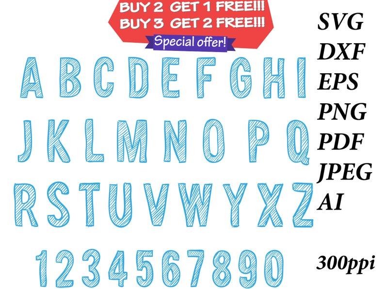 Drawn alphabet SVG Font drawn font svg painted font svg silhouette font svg stencil font svg cricut font PNG AI eps dxf   #145