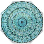 Mandala Umbrella - Wet Blue