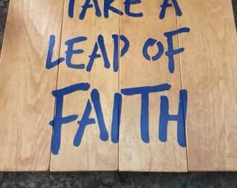 take a leap of faith