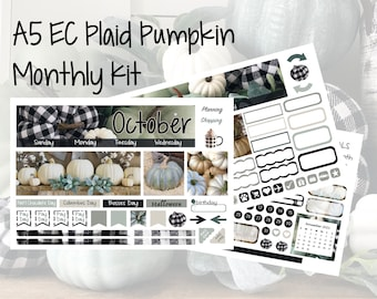 NEW EC A5 Plaid Pumpkin September, October or November Monthly Kit