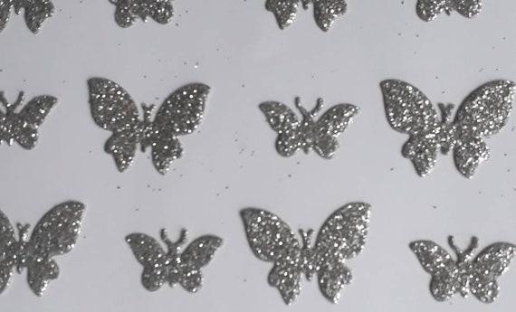 wedding confetti 100 decorative butterflies BLACK  for cardmaking display