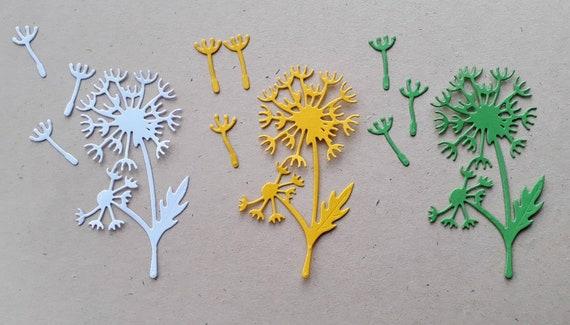 Die Cut Paper Dandelion Flower Die Cut Dandelion Flower Etsy