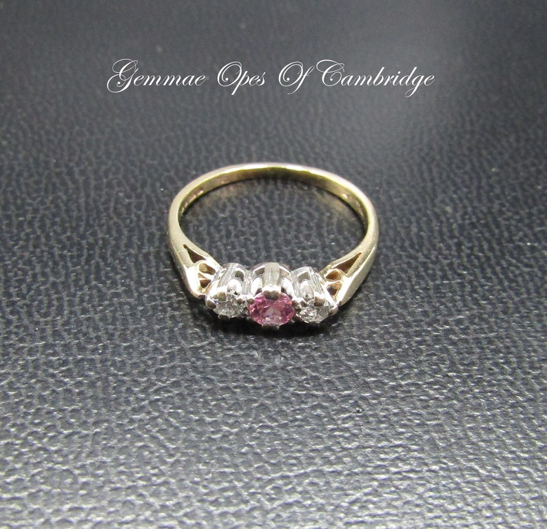 Fine Jewelry Lovely 9ct Natural Diamond Solitaire Ring Size K
