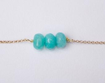 JADE 14K Gold Fille Lava Stone Aromatherapy Bracelet