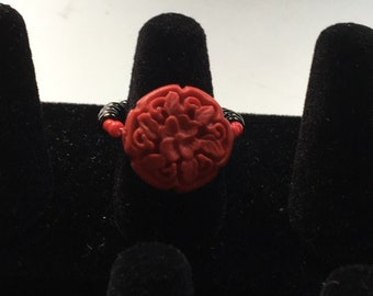 Asian floral ring