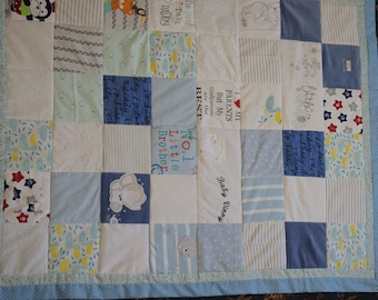 Memory Quilt Blanket. Made from your babies clothes