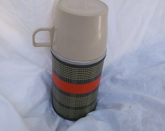 Vintage Best Buy Plaid Thermos manufactured by Aladdin Industries