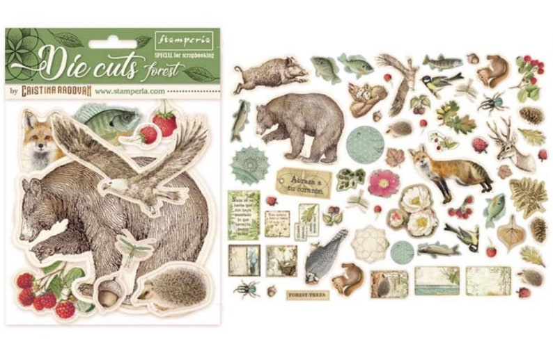 Stamperia Forest Die Cuts Assorted  Die Cut   Forest image 0