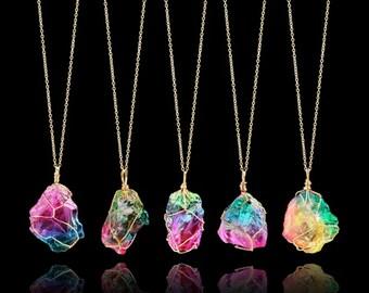 rainbow aura etsy