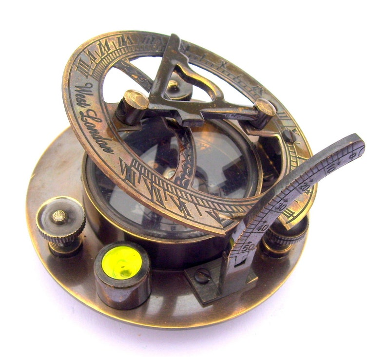 Maritime Maritime Compasses Buy Cheap Nautical Brass Sundial Marine Compass Brass With Leather Case Collectible Item