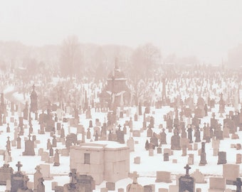 Snowy New York Cemetary 2