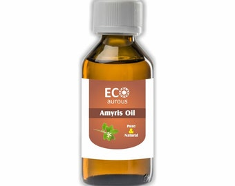 Eco Aurous Amyris Pure & Natural Essential Oil| Pure Amyris Oil| Natural Amyris Oil| Amyris essential Oil| Amyris Oil For SKin, Acne, Hair