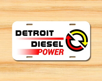 Detroit Diesel Power Silver Vinyl Decal Sticker Car Truck Wall