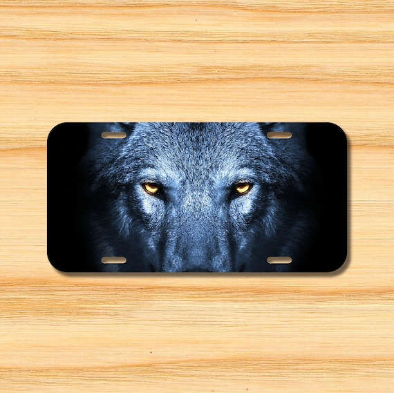 Wolf Lovers License Plate Cover Metal Car Tag Auto Tag Aluminum 12 X 6 inch