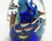 Murano STYLE Glass Aquarium with Fish