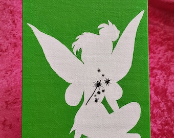 Tinkerbell Silhouette Painting