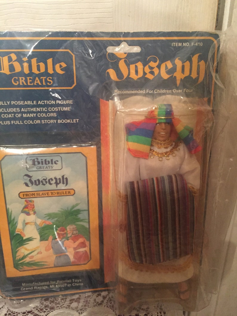 Bible Greats 1985-86 Action Figures NIB Sampson Daniel Moses and Joseph