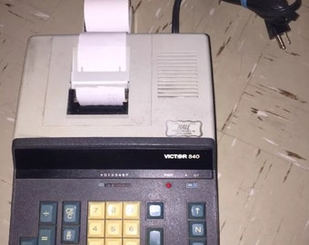 Vintage Victor MOD 840 Business Printing Calculator Adding Machine Dust Cover