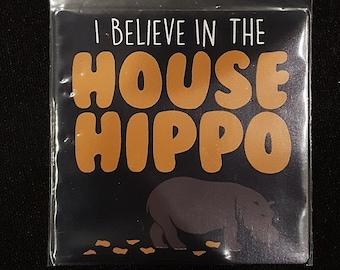 Large House Hippo Canadian Nostalgia Magnet