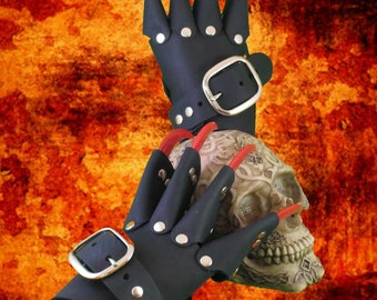 Black Dragon Claw Gauntlets / Gloves with Red Claws