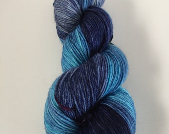 Hand dyed shawl or sock yarn 100g