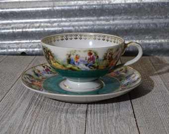 Ardalt Occupied Japan Cup and Saucer set Royal Couple #6321