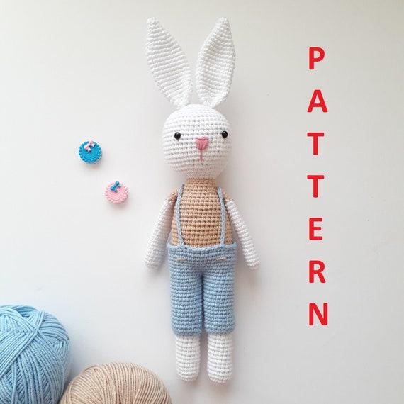 Baby amigurumi Bunny Crochet Mohair Rabbit toy Animal Stuffed for ...   570x570