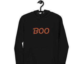 Boo Embroidered Unisex Hoodie - available in 5 colors