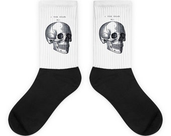 Anatomical Skull Novelty Socks / Skull Socks / Novelty Halloween Socks / Unique Gift Socks / Gift For Her / Gift For Him / Gothic Socks