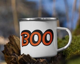 Boo Enamel Camp Mug