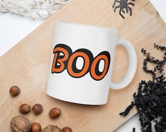 Boo White Ceramic Mug