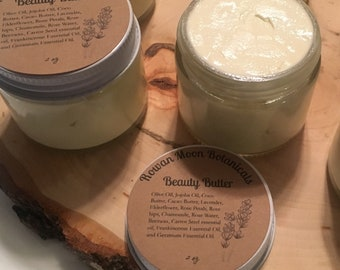 All Natural Herbal Infused Beauty Butter 2 oz Paraben and Chemical Free