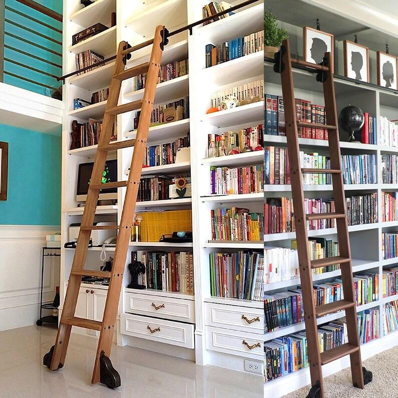 3 3ft 1m 32 8ft 10m Black Steel Sliding Modern Living Room Home Office Kitchen Storeroom Library Ladder Hardware Track Kit Keine Leiter